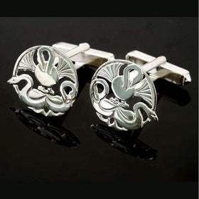 Shetland Silver Or Gold Three Nornes Cufflinks - C77-s-Ogham Jewellery