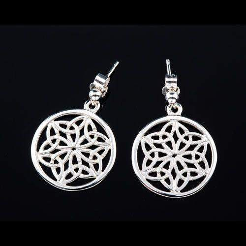 Shetland Sterling Silver Celtic Earrings E432-Ogham Jewellery