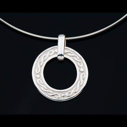 Shetland Sterling Silver Celtic Necklace -P601-Ogham Jewellery