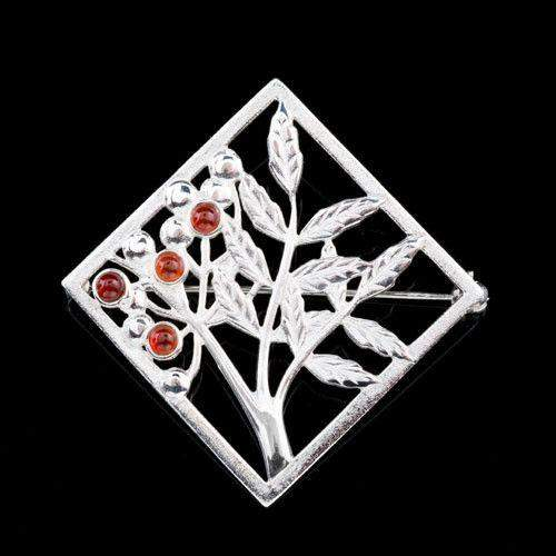 Shetland Sterling Silver or Gold Brooch B542-Ogham Jewellery