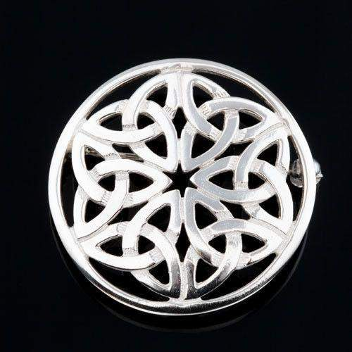 Shetland Sterling Silver or Gold Celtic Brooch B430-Ogham Jewellery