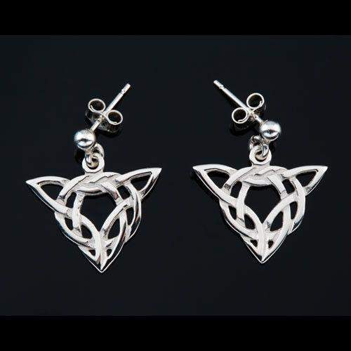 Shetland Sterling Silver Or Gold Celtic Earrings E192D-Ogham Jewellery