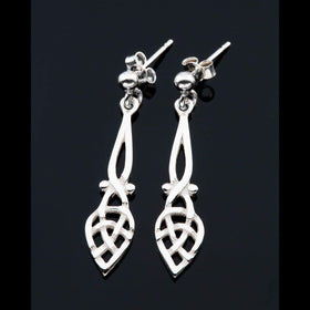 Shetland Sterling Silver Or Gold Celtic Earrings - E475-s-Ogham Jewellery