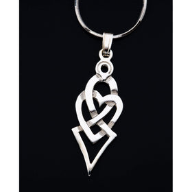 Shetland Sterling Silver Or Gold Celtic Heart Pedant - P720-Ogham Jewellery