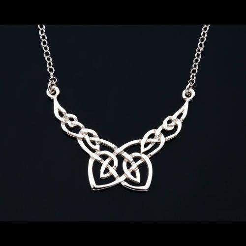 Sterling Silver or Gold Celtic Necklace - P196