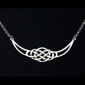 Shetland Sterling Silver 0r Gold Celtic Necklace -P471-Ogham Jewellery