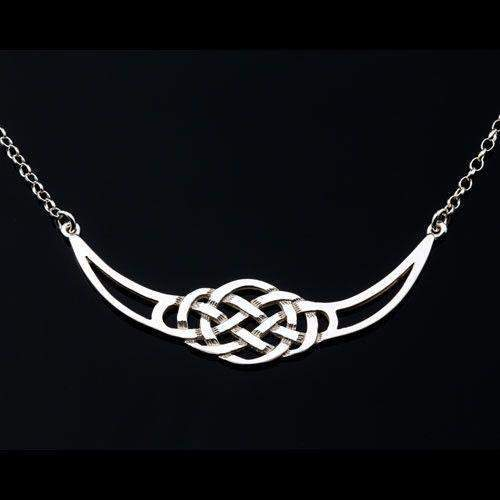 Sterling Silver or Gold Celtic Necklace - P471