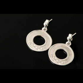 Shetland Sterling Silver Or Gold Half Circle Celtic Knotwork Earrings - E604-d-s-Ogham Jewellery
