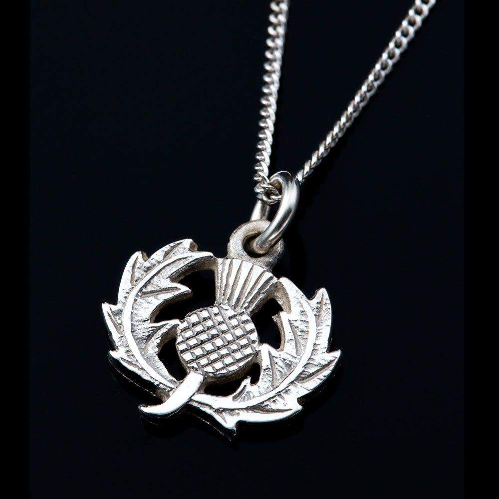 Sterling Silver Or Gold Scottish Thistle Pendant - P20-s