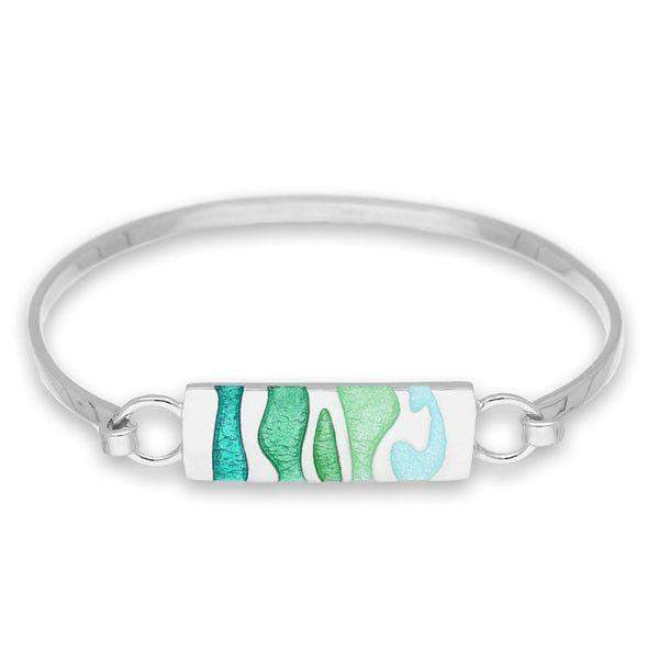 Silver and Enamel Bangle EBG30-Ogham Jewellery