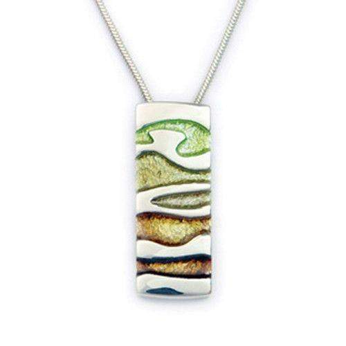 Silver and Enamel Pendant EP281-Ogham Jewellery