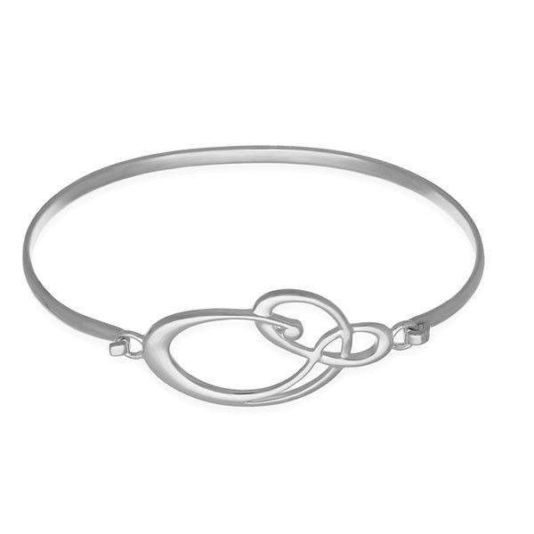 Silver Celtic Bangle - BG171