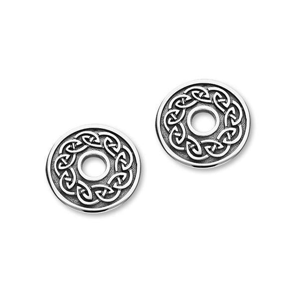 Silver Celtic Stud Earrings E1788-Ogham Jewellery