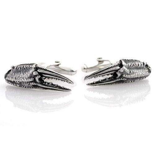 Silver Crab Claw Cufflinks-Ogham Jewellery