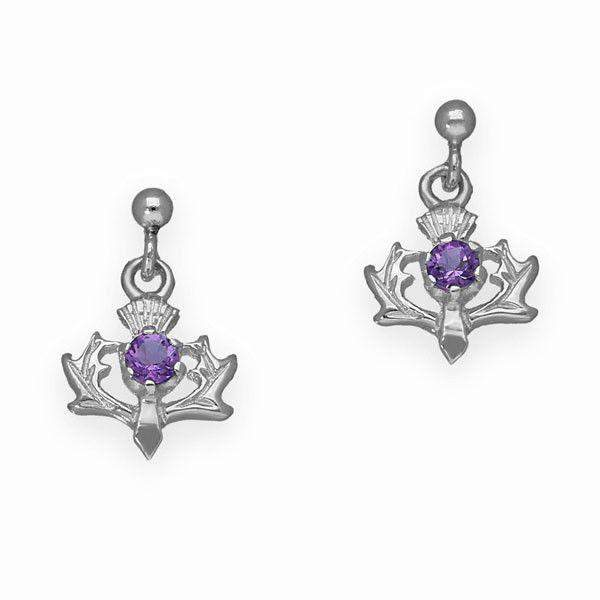 Silver Amethyst Earrings - CE9