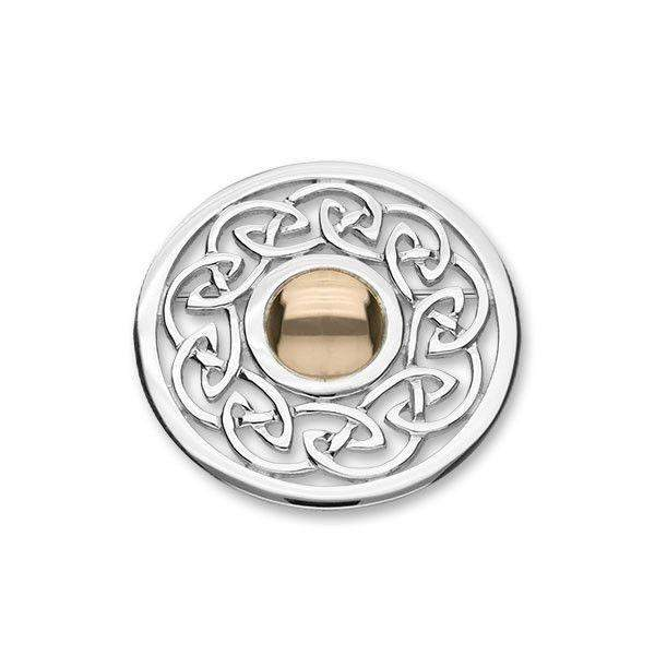 Silver & Gold Celtic Brooch - B494 ORT-Ogham Jewellery