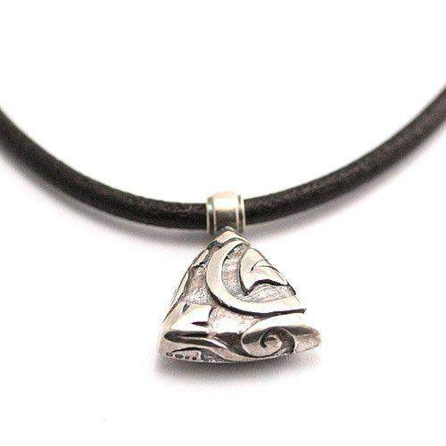 Silver & Leather Designer Necklace - EMP33L-Ogham Jewellery