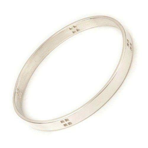 Silver Mackintosh Bangle - BG68-Ogham Jewellery