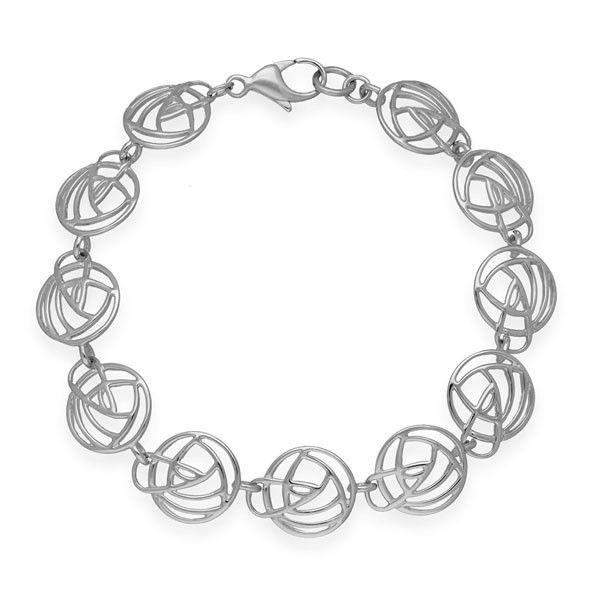 Silver Mackintosh Bracelet - BL242-Ogham Jewellery