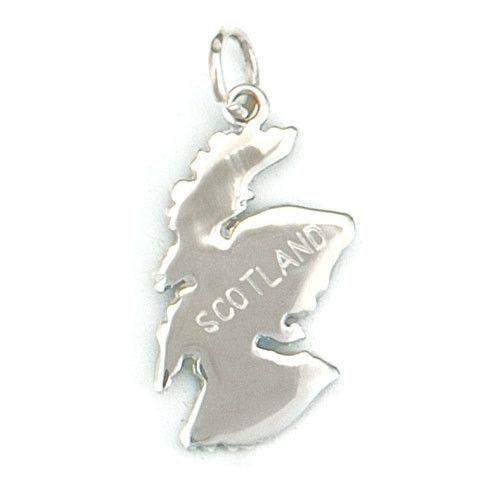 Silver Map of Scotland Charm C32-Ogham Jewellery