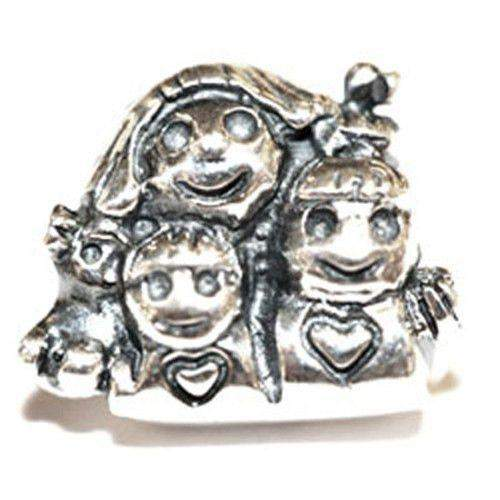 Silver Mum & 2 Children Bead-Ogham Jewellery