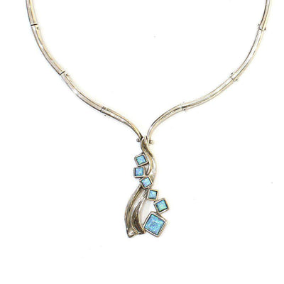 Silver & Opaline Necklet D211-Ogham Jewellery