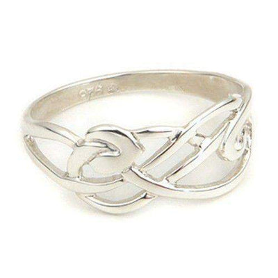 Silver or Gold Celtic Knot Ring - Ortak R100-Ogham Jewellery