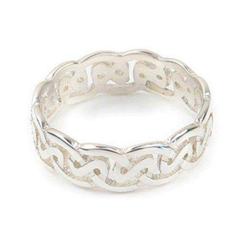 Silver or Gold Celtic Knot Ring - Ortak R142 - 6mm-Ogham Jewellery