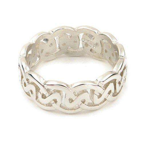 Silver or Gold Celtic Knot Ring - XR142 - 8mm Sizes Q-Z