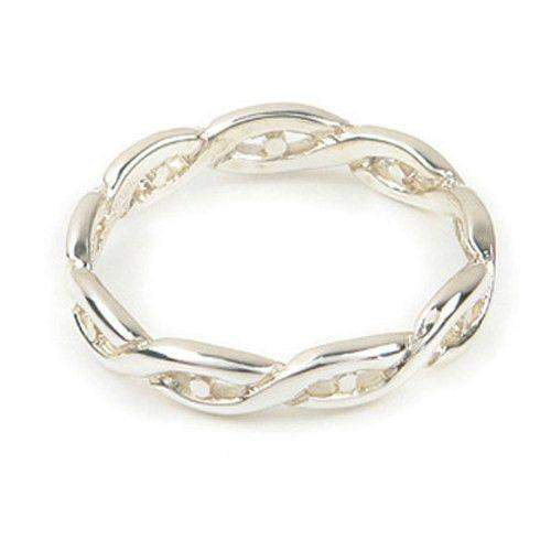 Silver or Gold Celtic Knotwork Ring - Ortak R153-Ogham Jewellery