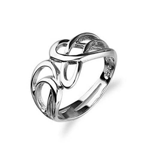 Silver or Gold Celtic Ring - Ortak R102 - Size J-Q-Ogham Jewellery