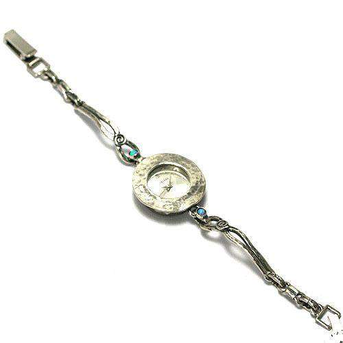 Silver Watch With Opalines & Thin Strap-Ogham Jewellery