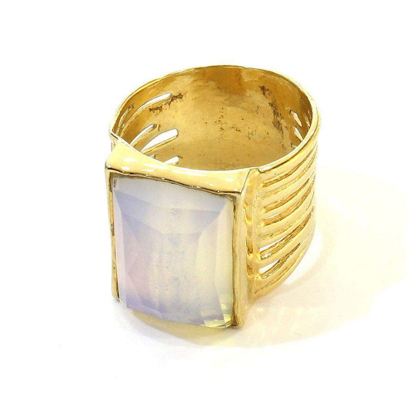 Silver with Vermeil Gold Plate Ring GP35-Ogham Jewellery