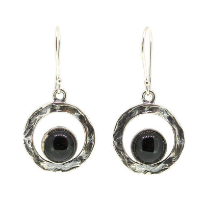 Sterling Silver And Onyx Earrings- E421450-Ogham Jewellery
