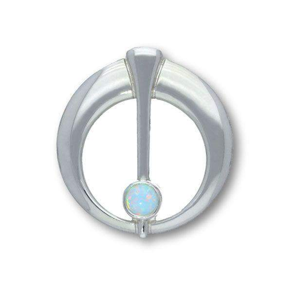 Sterling Silver and Opal Brooch SB146-Ogham Jewellery
