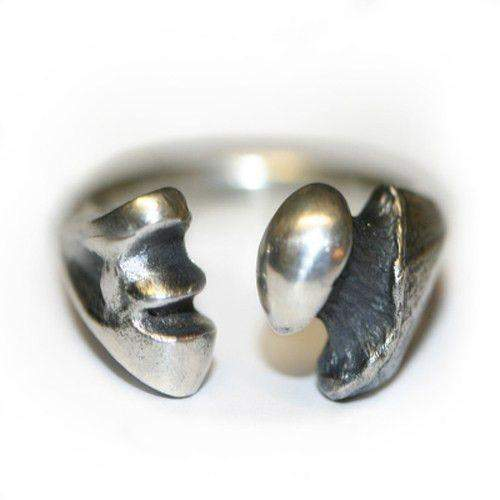 Sterling Silver Bone Designer Mens Ring-Ogham Jewellery