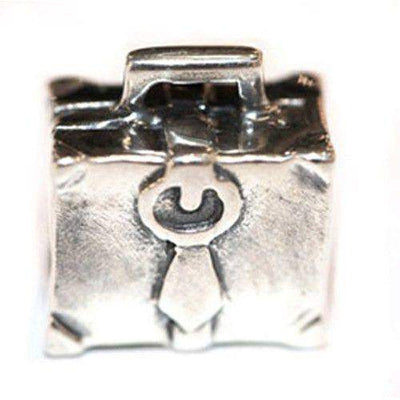 Sterling Silver briefcase bead-Ogham Jewellery