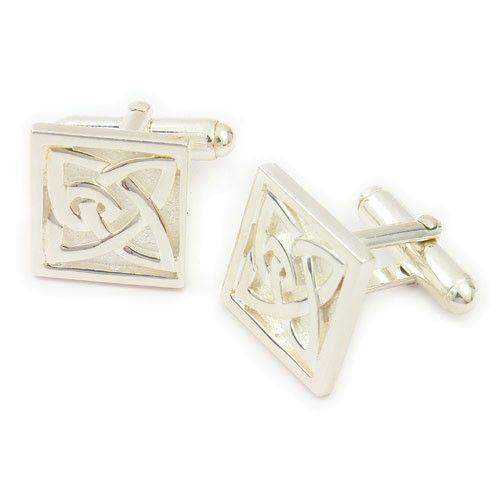 Sterling Silver Celtic Cufflink - CL285-Ogham Jewellery