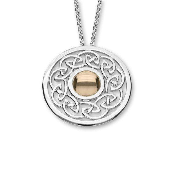 Sterling Silver Celtic Pendant - P572-Ogham Jewellery