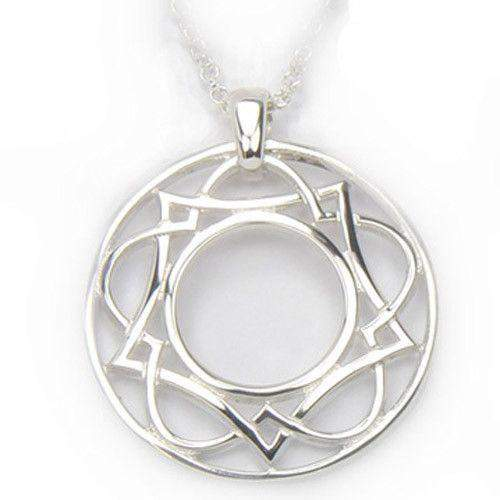 shown spiga in celtic large chain round necklace knot sterling pendant jewelry silver