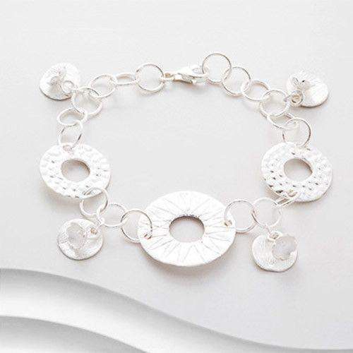 Sterling Silver Circle Bracelet-B559-Ogham Jewellery