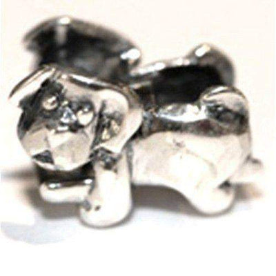 Sterling Silver Dog Charm Bead-Ogham Jewellery