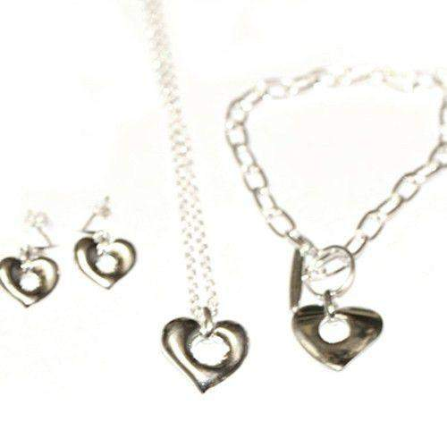 Sterling Silver Hearts Jewellery Set-Ogham Jewellery
