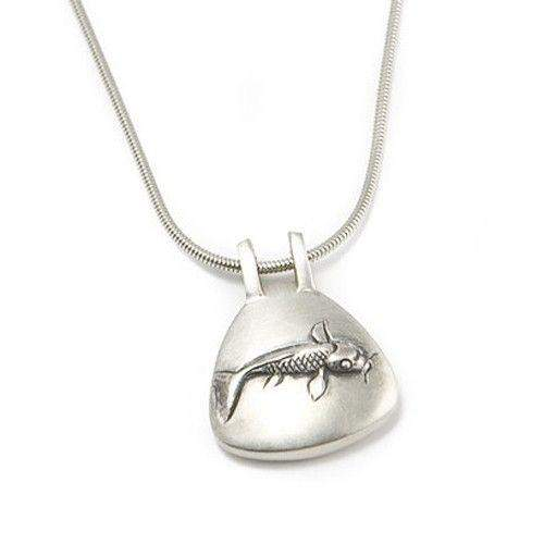 Sterling Silver Japanese Fish Pendant-Ogham Jewellery