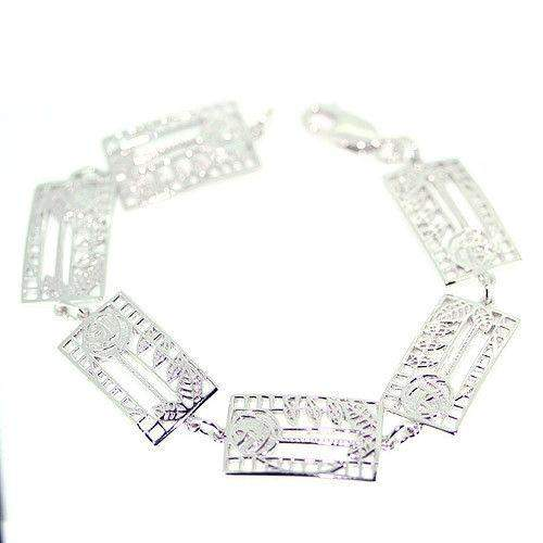 Sterling Silver Mackintosh Bracelet -B410-Cairn-Ogham Jewellery