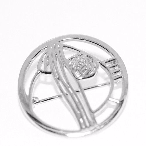 Sterling Silver Mackintosh Brooch -B710-Ogham Jewellery