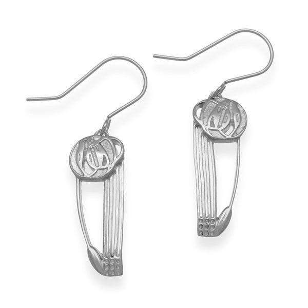 Sterling Silver Mackintosh Earrings - E1616 ORT-Ogham Jewellery