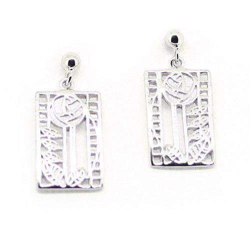 Sterling Silver Mackintosh Earrings- E405-Ogham Jewellery