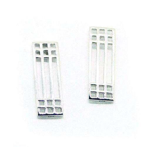 Sterling Silver Mackintosh Earrings- E503-Ogham Jewellery