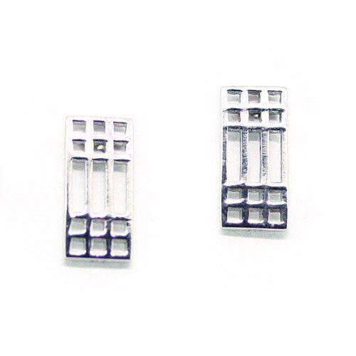 Sterling Silver Mackintosh Earrings- E504-Ogham Jewellery